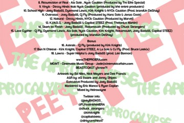 Pro Era - Peep the Aprocalypse (Back Cover)