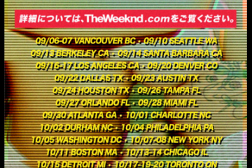 """The Weeknd """"The Fall"""" Tour"""