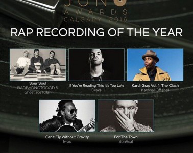 juno rap recording of the year