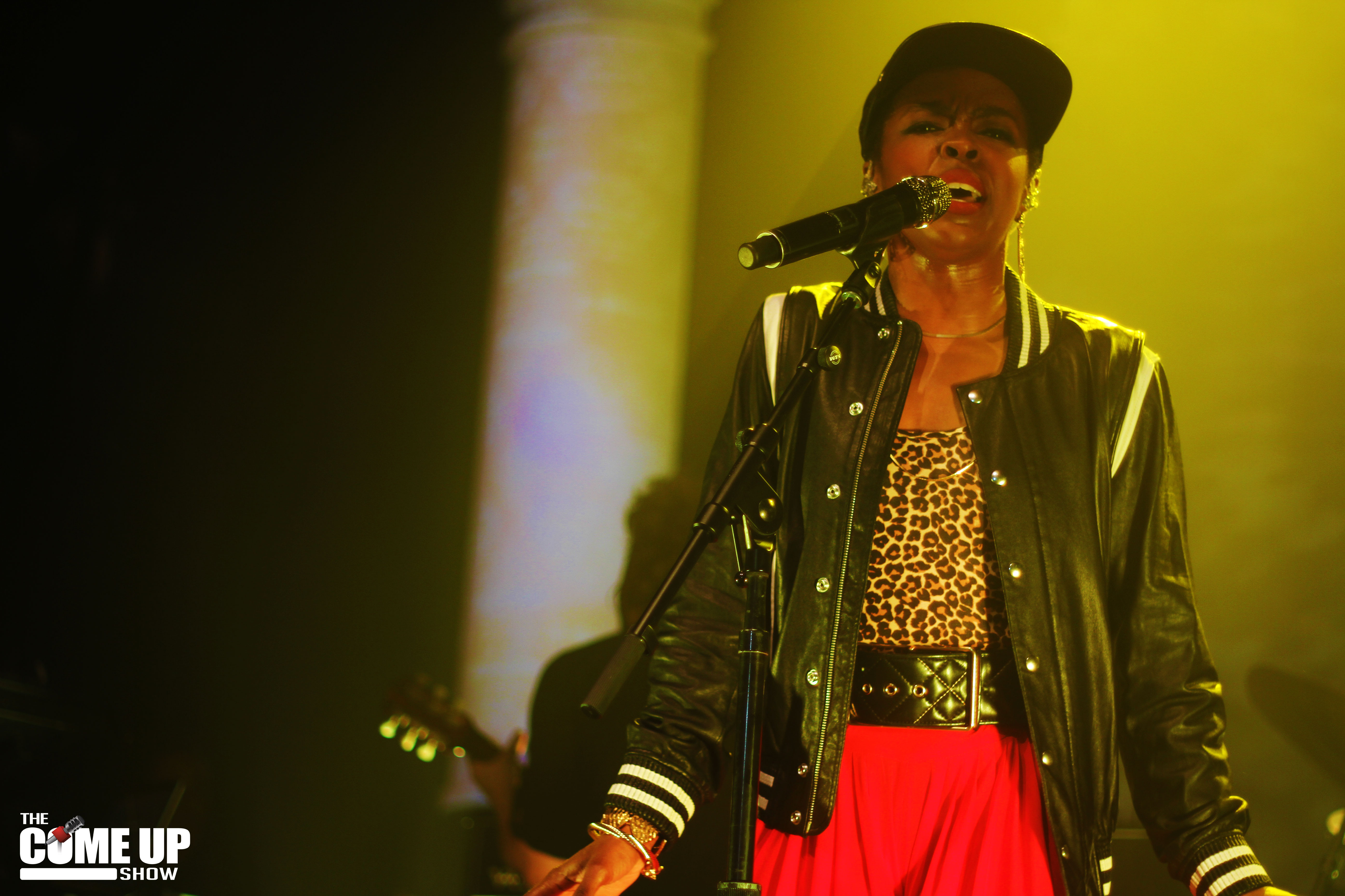 Lauryn Hill singing at The Sound Academy